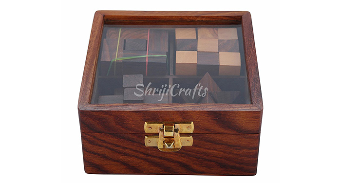 Wooden Puzzle 4 in 1 Game