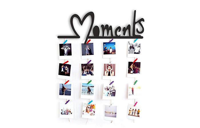 hanging photo collage