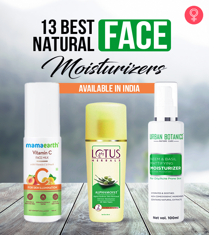 13 Best Natural Face Moisturizers Available In India