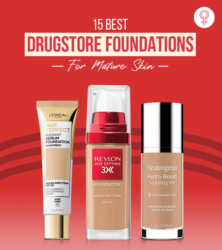 15 Best Drugstore Foundations For Mature Skin – 2021 Update