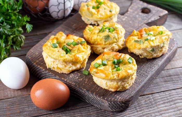 Cheddar Egg Frittata Bites