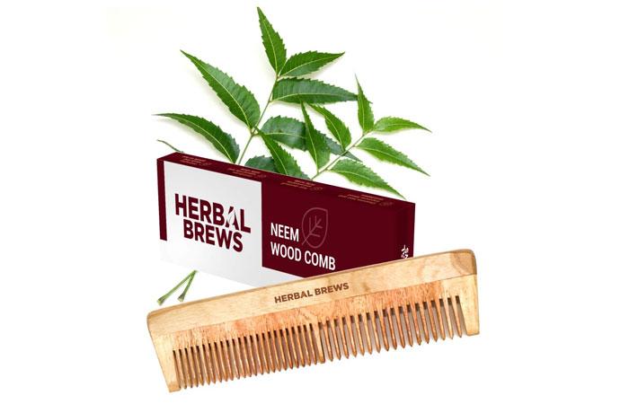 Kabello Handmade Neem Wood Comb