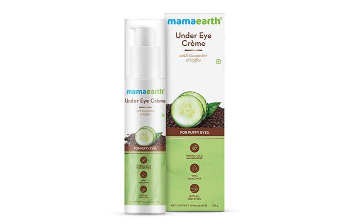 8. Mamaearth Under Eye Cream With Cucumber & Coffee