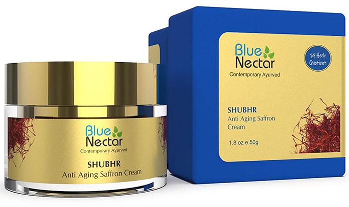 Blue Nectar Shubhr Anti-Aging Saffron & Sandalwood Cream