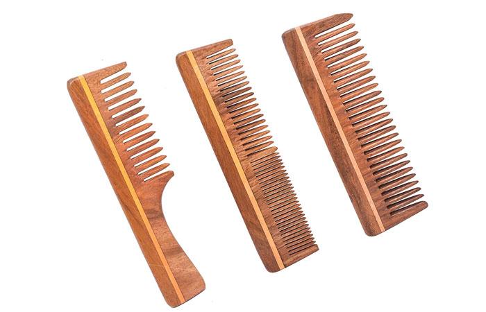 8. Ayan Handmade Neem Wooden Comb