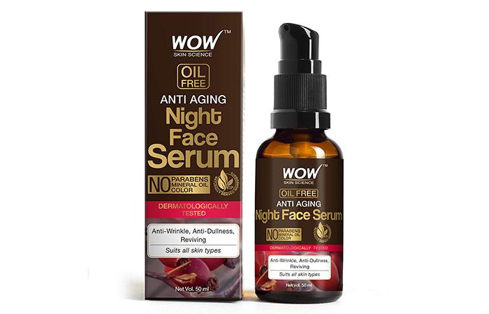 Best Gentle Night Serum Wow Skin Science Anti-Aging Night Face Serum