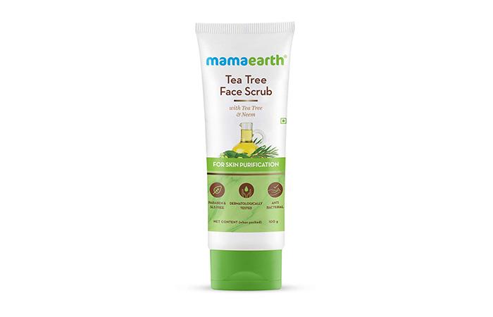Best Natural Formula - Mamaearth Tea Tree Face Scrub