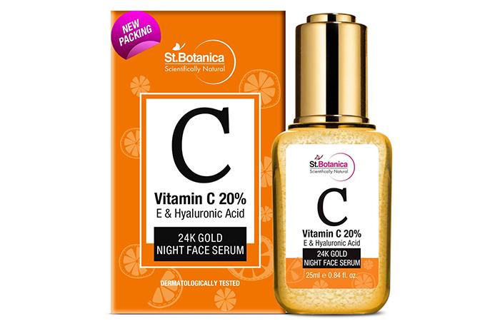 Best Skin Brightening Formula St. Botanica Scientifically Natural 24K Gold Night Face Serum