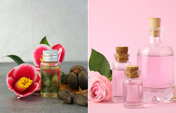 Camellia Oil And Rose Water