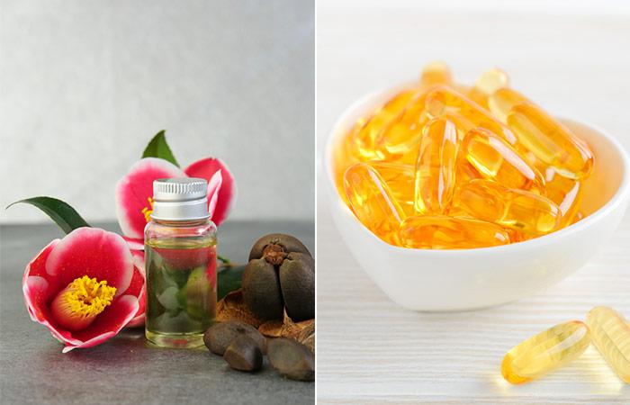 Camellia Oil And Vitamin E Capsule