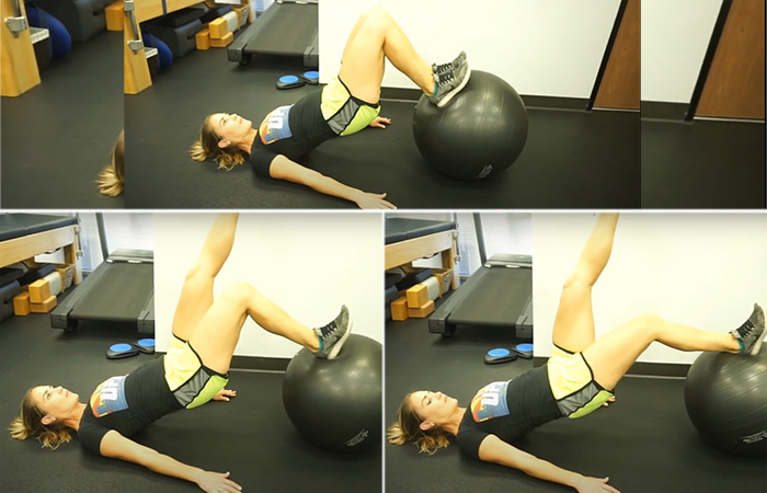 Hamstring Curl With Physio Ball