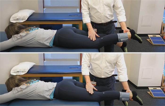 Prone Knee Extension Hang
