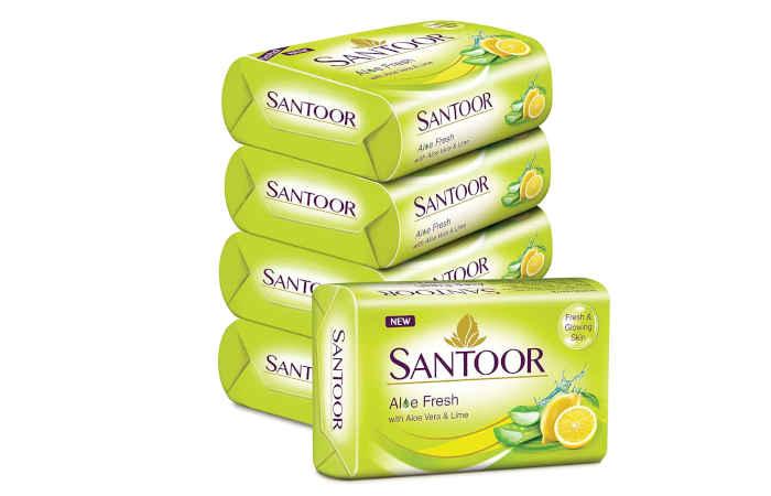 Santoor Aloe Fresh Soap