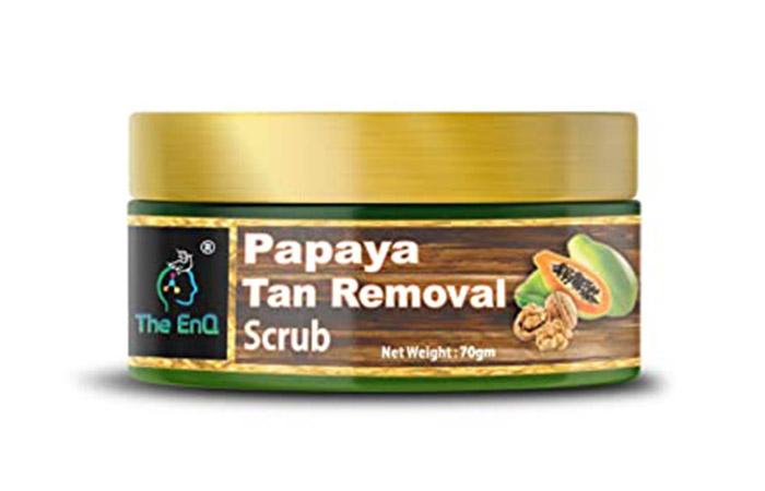 The EnQ Papaya Tan Removal Scrub