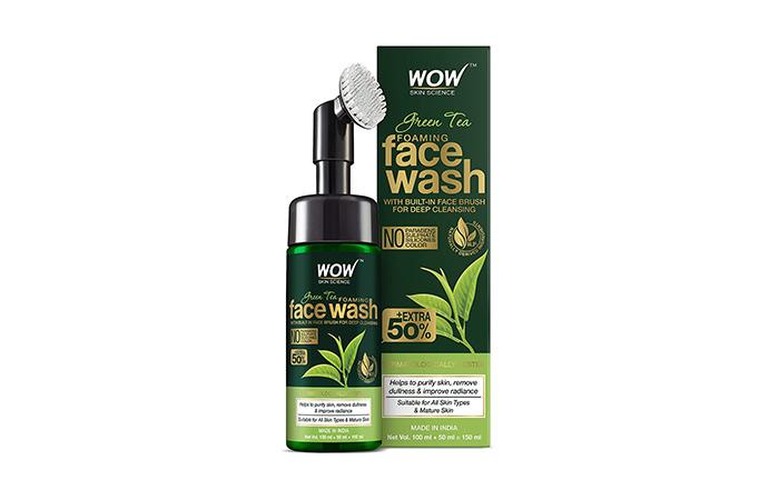 WOW Skin Science Green Tea Foaming Face Wash