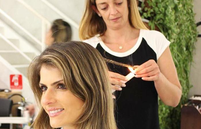 Brazilian Women Daringle Burn Off Their Hair Tips