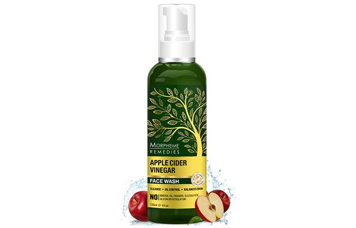 Best For Oil Control: Morpheme Remedies Apple Cider Vinegar Face Wash