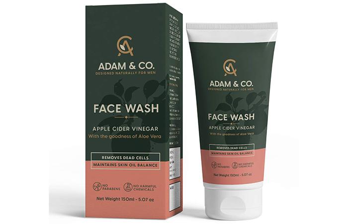 Best For Boosting Radiance: Adam & Co. Apple Cider Vinegar Face Wash