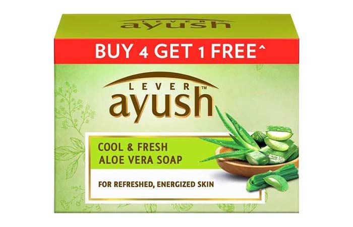 Best-Ayurvedic-Formula-Lever-Ayush-Cool-&-Fresh-Aloe-Vera-Soap