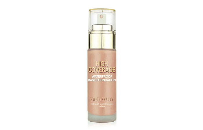 Best Buildable Coverage Swiss Beauty High Coverage Waterproof Base Foundation