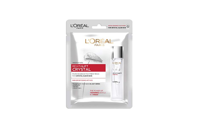 Best Crystal Micro-Essence Face Mask L'Oreal Paris Revitalift Crystal Micro-Essence Sheet Mask