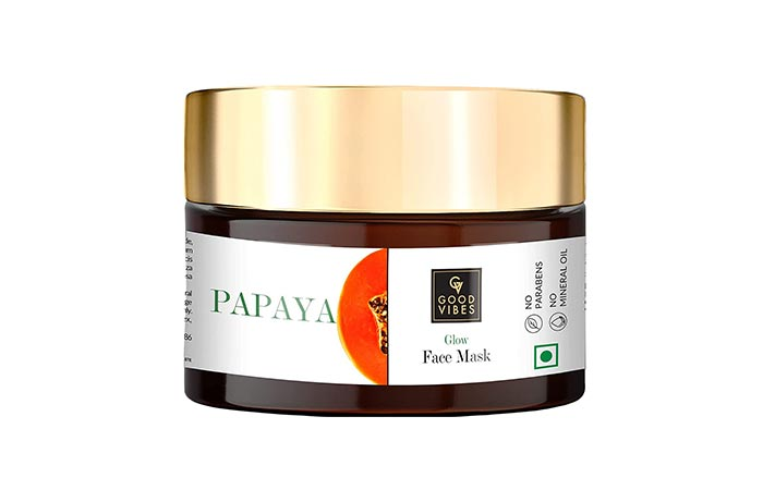 Best For Blemishes Good Vibes Papaya Glow Face Mask