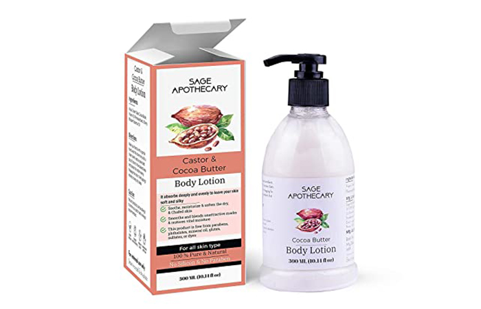 Best For Deep Hydration Sage Apothecary Castor & Cocoa Butter Body Lotion