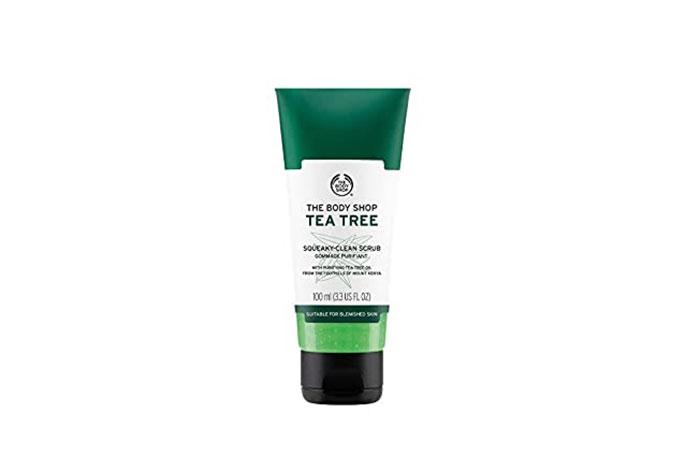 Best Scrub For Smooth Skin: The Body Shop Tea Tree Squeaky Clean Scrub