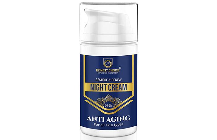 Best For Repairing Sun Damage Honest Choice Restore & Renew Night Cream