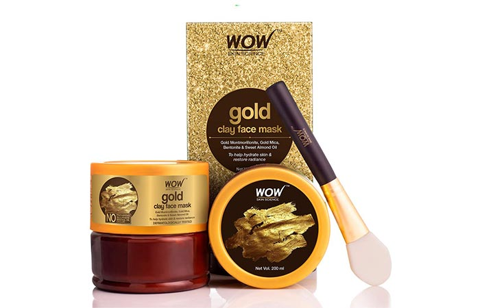 Best For Restoring Radiance WOW Skin Science Gold Clay Face Mask