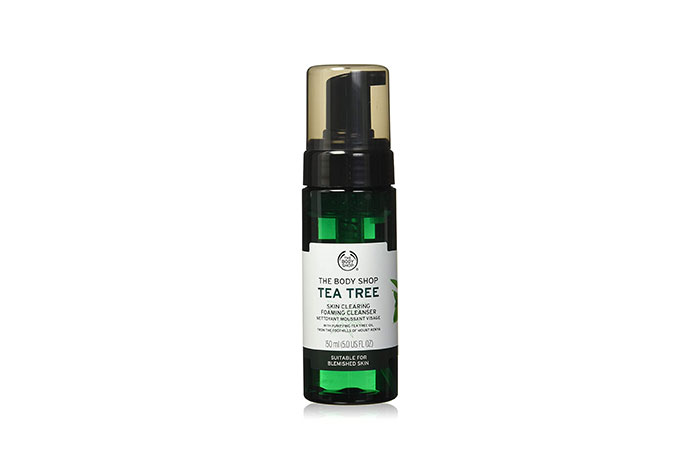 Best For Inflammation: The Body Shop Tea Tree Skin Clearing Foaming Cleanser