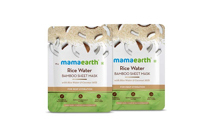 Best Rice Water Face Mask Mamaearth Rice Water Bamboo Sheet Mask