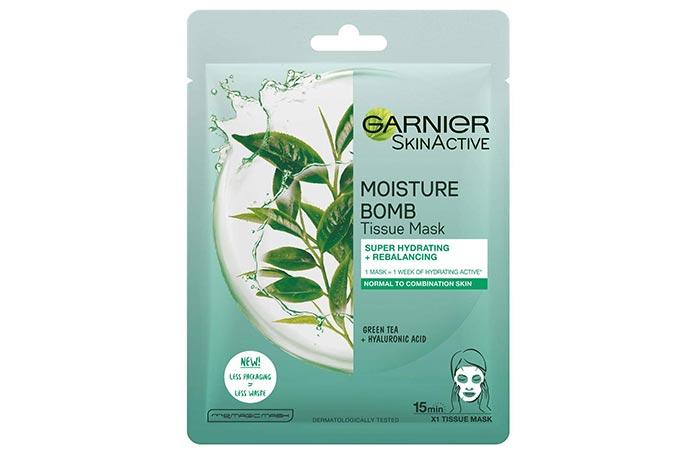 Best Sheet Face Mask With Green Tea Garnier SkinActive Moisture Bomb Tissue Mask