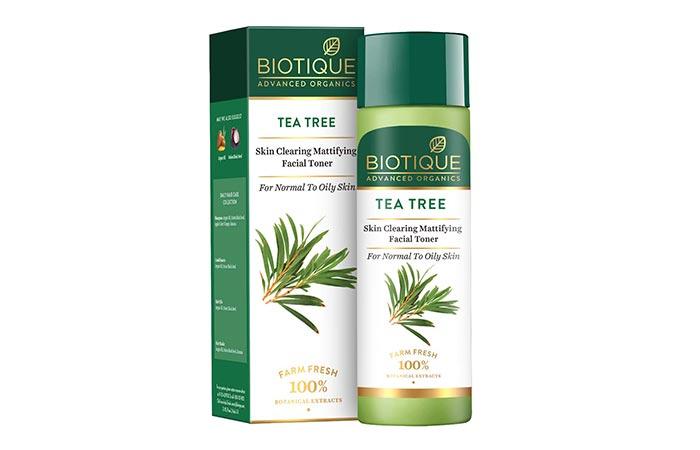 Biotique Tea Tree Skin Clearing Mattifying Facial Toner