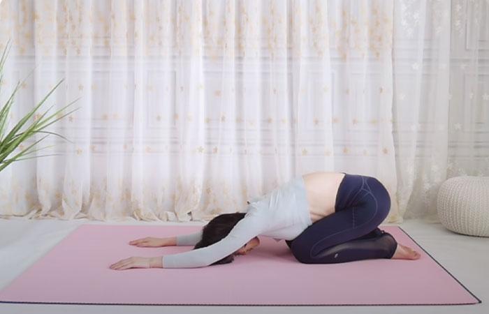 Child's Pose For Shoulder, Spine, And Hip