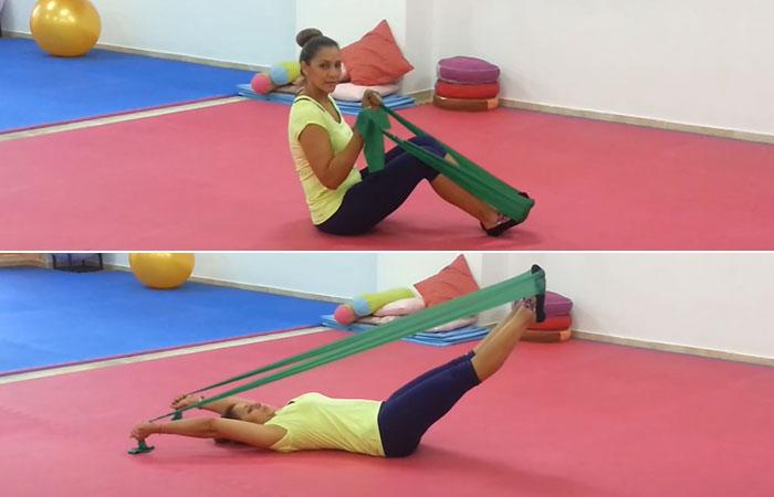 Double Leg Stretches