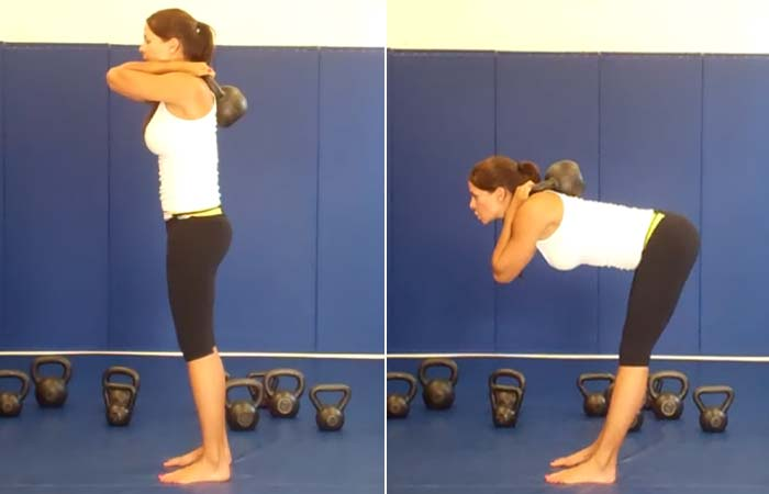Good Morning Exercise With Kettlebell