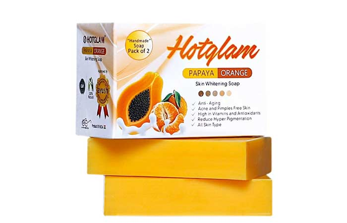 Hotglam-Papaya-Orange-Skin-Whitening-Soap