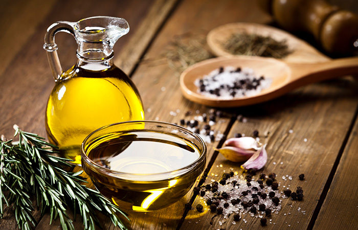 Massage Olive Oil In Your Skin