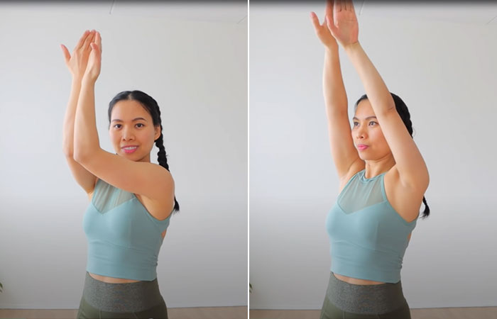 Reverse Arm Clap And Arm Open For Upper Chest