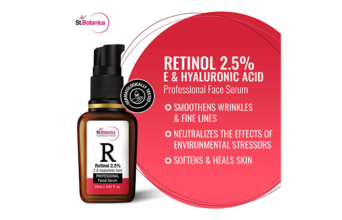 St.Botanica Retinol 2.5%Professional Facial Serum