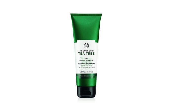 The Body Shop Tea Tree 3-In-1 Wash Scrub Mask