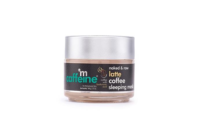 mCaffeine Latte Coffee Sleeping Face Mask