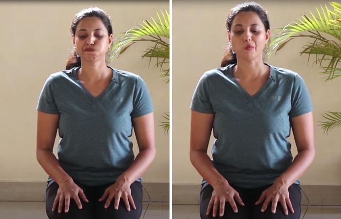 7. Gargling Face Yoga