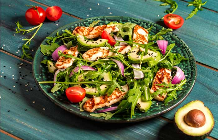 Halloumi And Rucola Salad