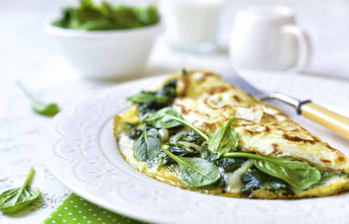 Stuffed Spinach Omelet
